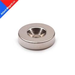 Неодимовый магнит кольцо 20х5 мм с зенковкой 4,5/10 мм
