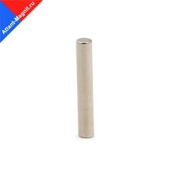 Неодимовый магнит стержень (пруток) 5х25 мм