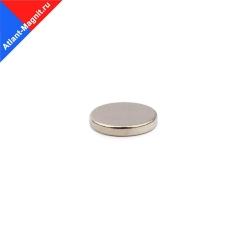 Неодимовый магнит диск 12х2 мм