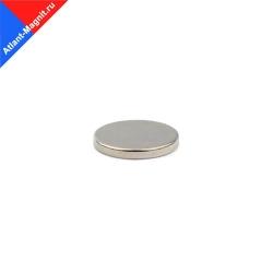 Неодимовый магнит диск 15х3 мм