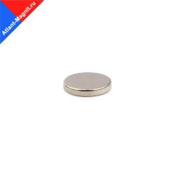 Неодимовый магнит диск 12х1 мм