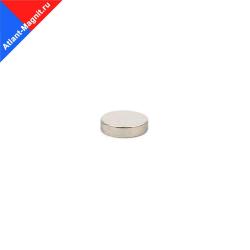 Неодимовый магнит диск 7х2 мм