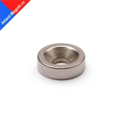 Неодимовый магнит диск 10х3 мм с зенковкой 3,5/7 мм