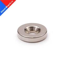 Неодимовый магнит диск 15х3 мм с зенковкой 3,5/7 мм