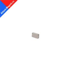 Неодимовый магнит призма (прямоугольник) 10х5х1 мм
