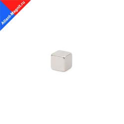 Неодимовый магнит призма (прямоугольник) 7х7x7 мм