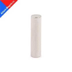 Неодимовый магнит стержень (пруток) 10х50 мм