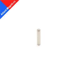 Неодимовый магнит стержень (пруток) 2х10 мм