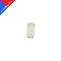 Неодимовый магнит стержень (пруток) 6х10 мм
