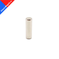 Неодимовый магнит стержень (пруток) 6х20 мм